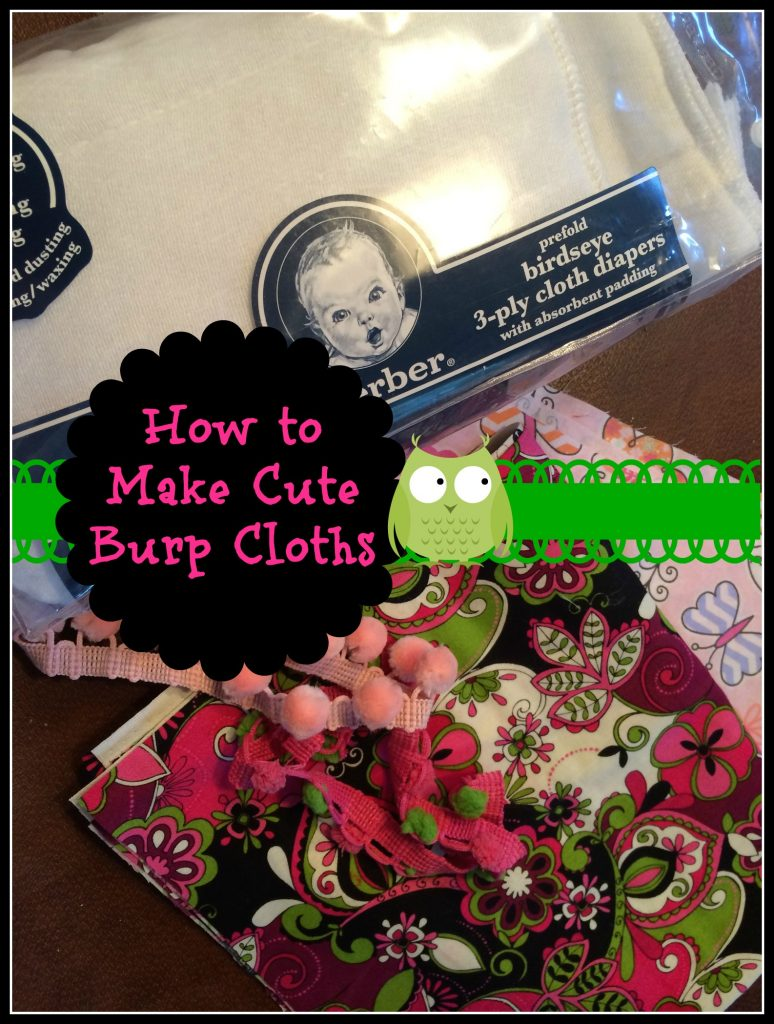 How To Make Cute Baby Burp Cloths Patina And Paint