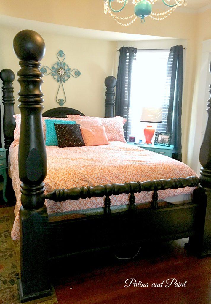 Black bed