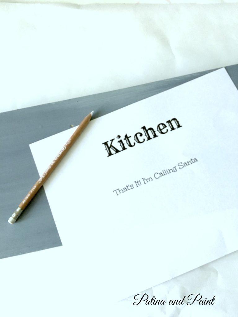 Christmas Kitchen sign