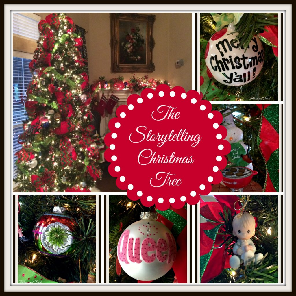 Christmas tree collage