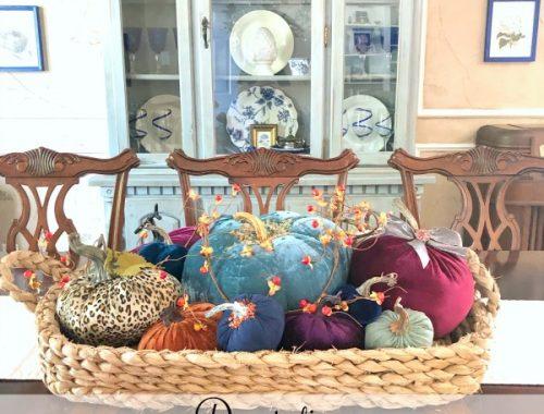 Decorating a magnolia basket