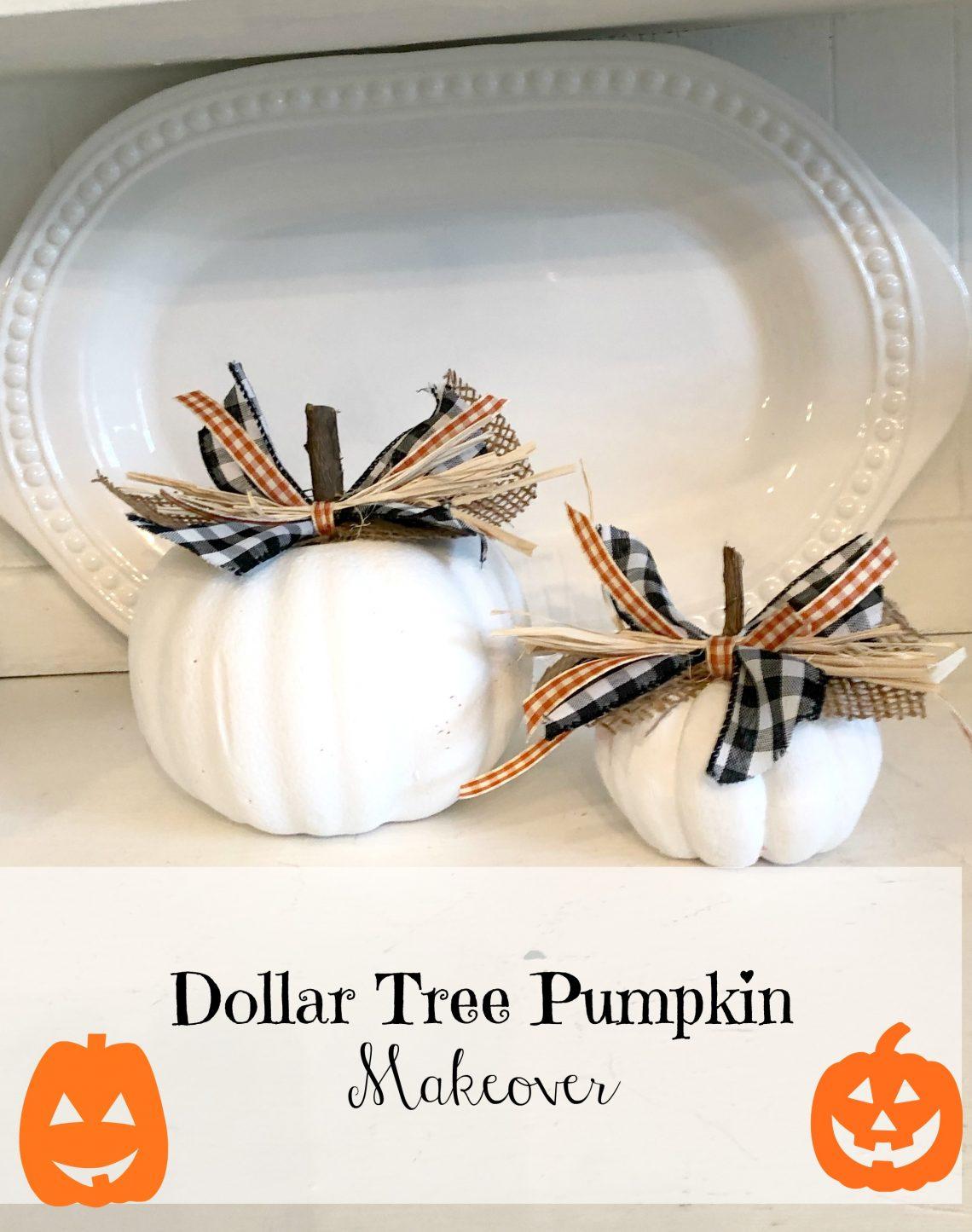 Dollar Tree Pumpkin Makeover