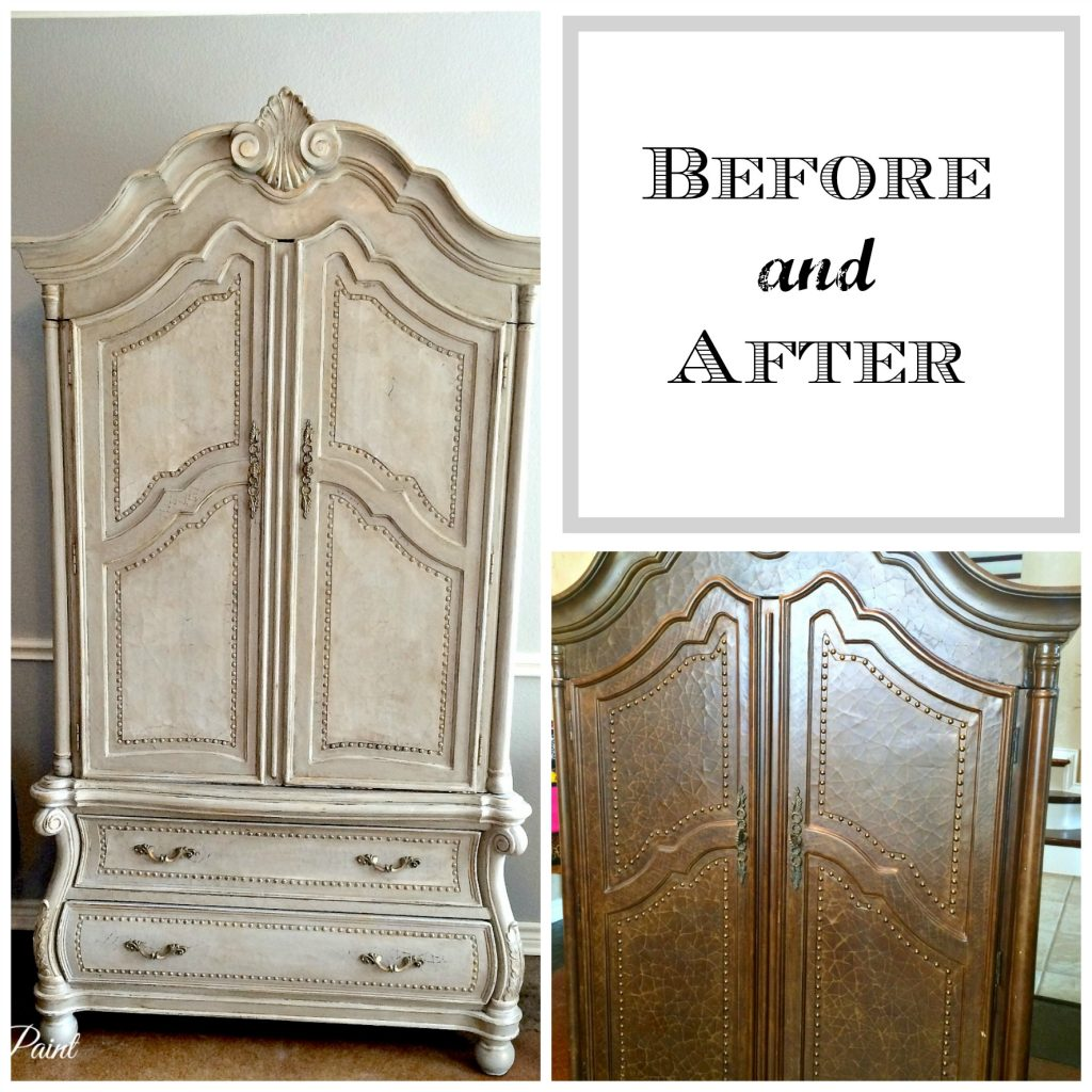Before And After Armoire Patina And Paint