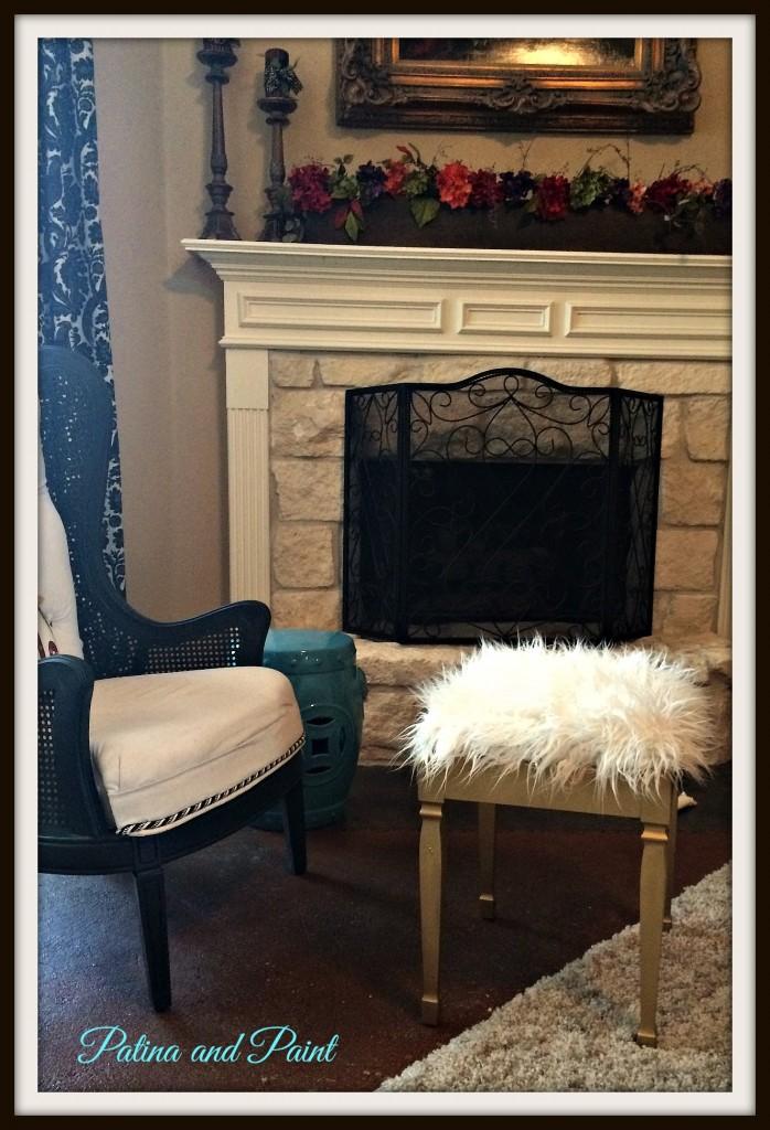 Furry stool
