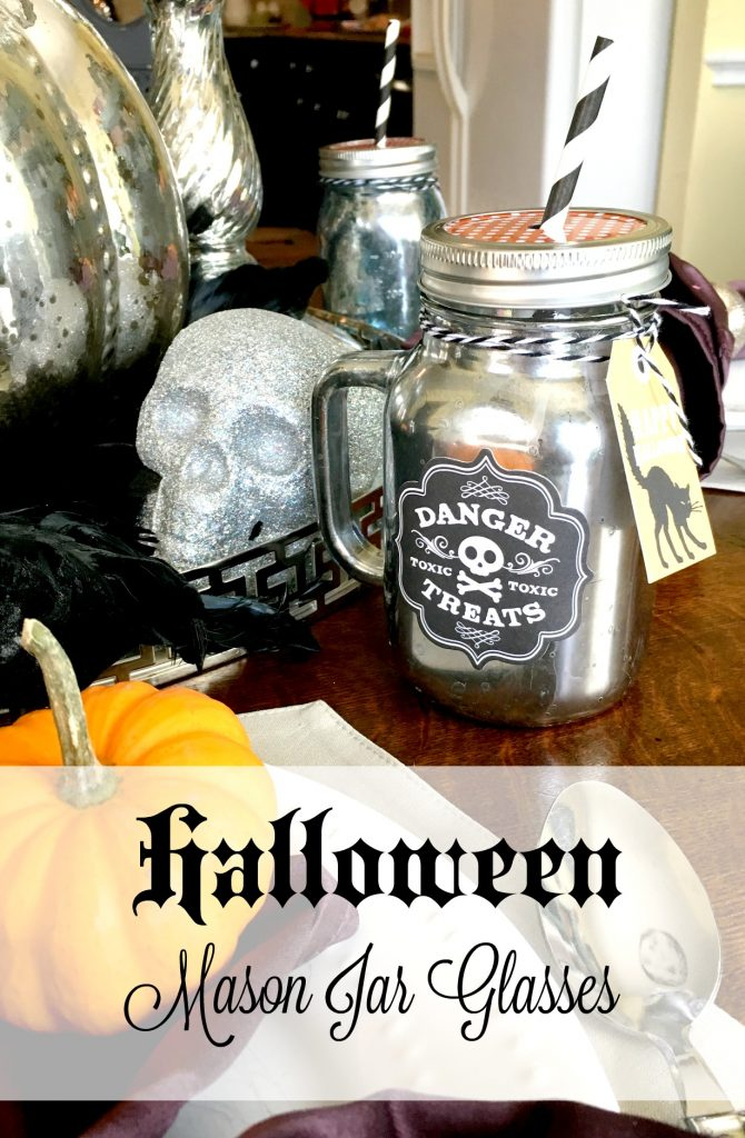 Halloween Mason Jar Glasses