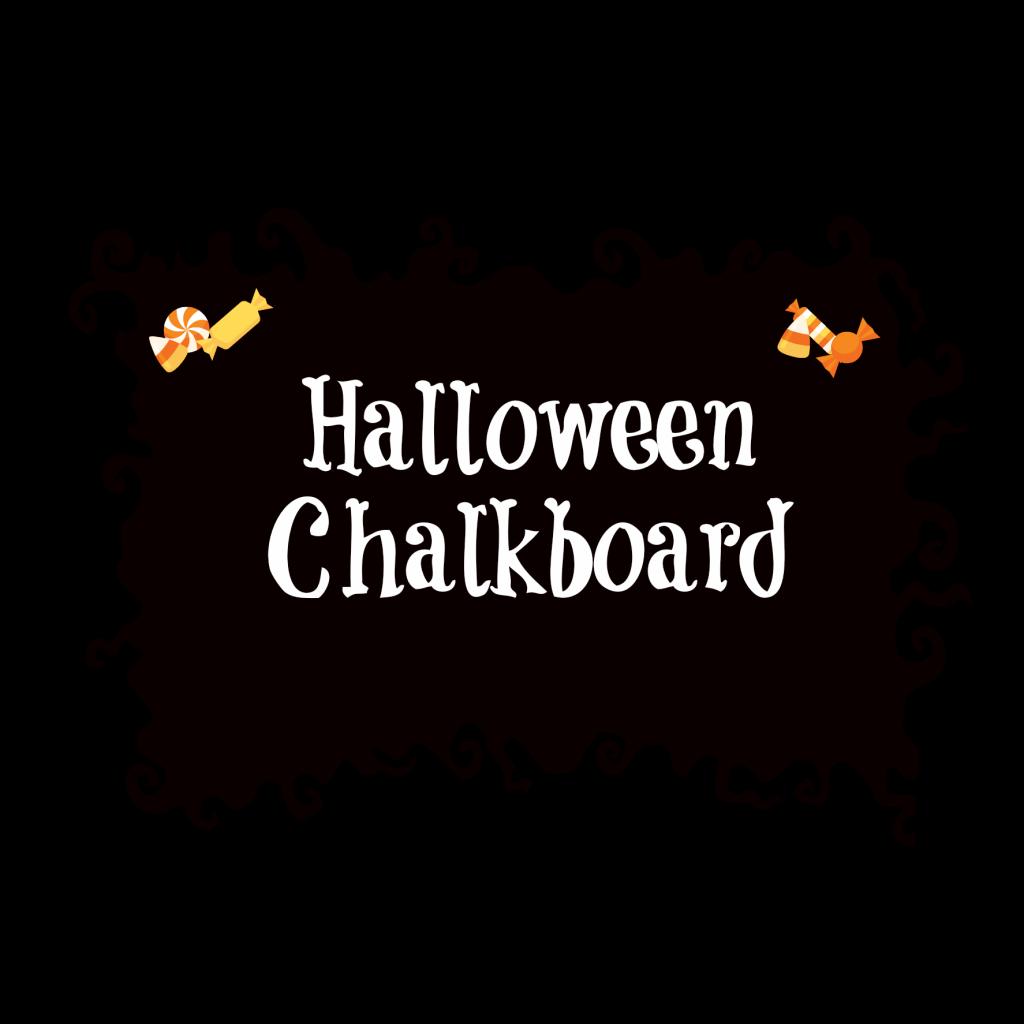 Halloween chalkboard banner