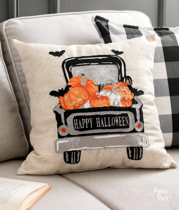 Halloween Truck pillow