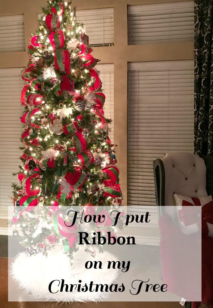 How To Put Ribbon On Christmas Tree.How I Put Ribbon On My Christmas Tree Patina And Paint