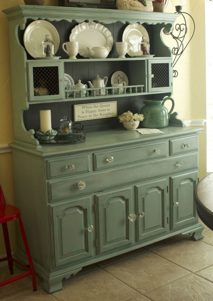 Feature Friday My Beautiful Turquoise Hutch Patina And