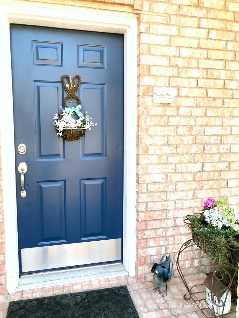 Painting the Front Door Serene