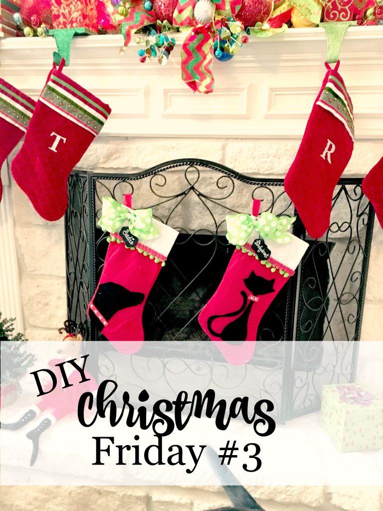 DIY Christmas Friday #3 Pet stockings