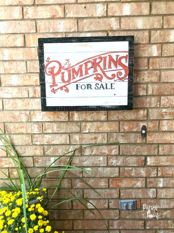 Pumpkin for sale sign
