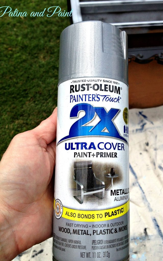 How to paint furniture silver metallic patina and paint for How to make silver paint