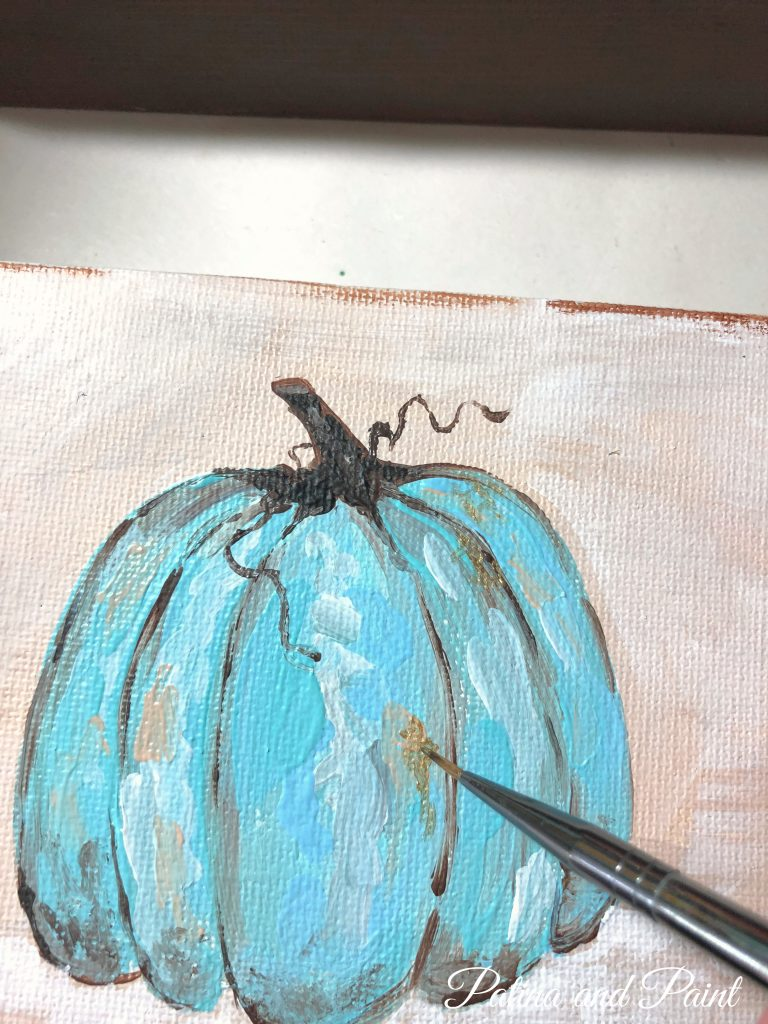 painting a pumpkin