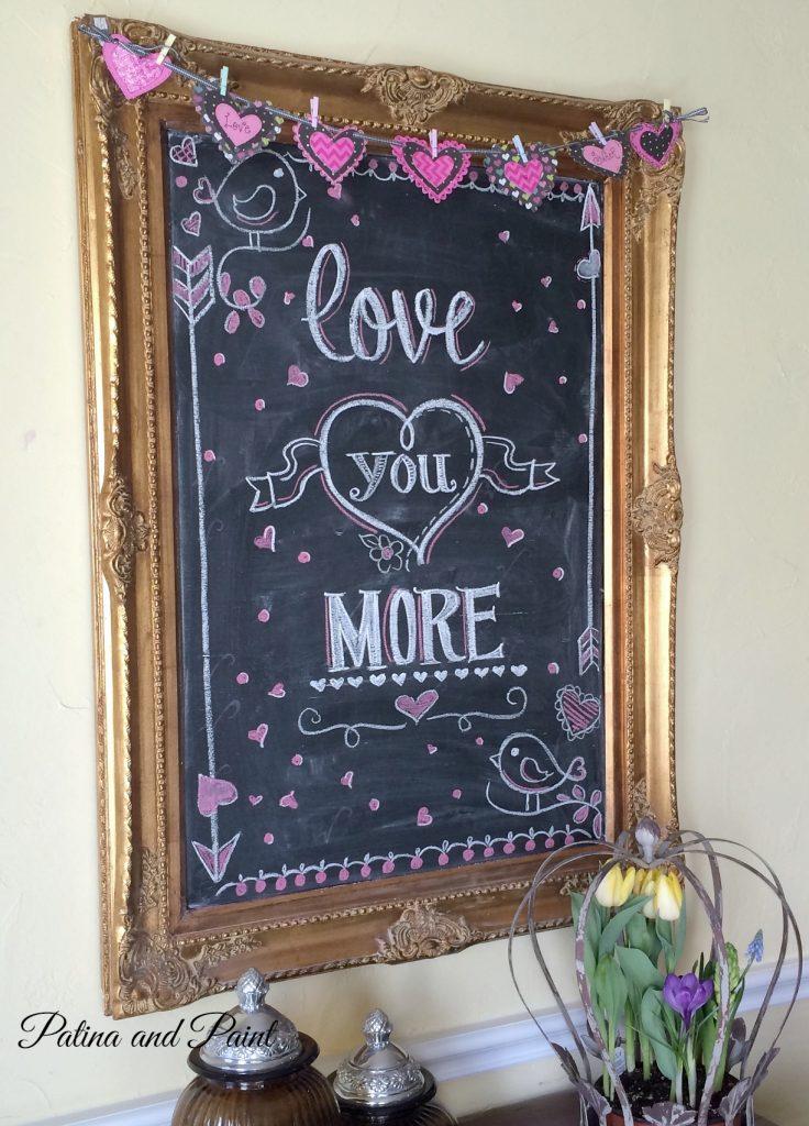 Valentines Chalk Board 2