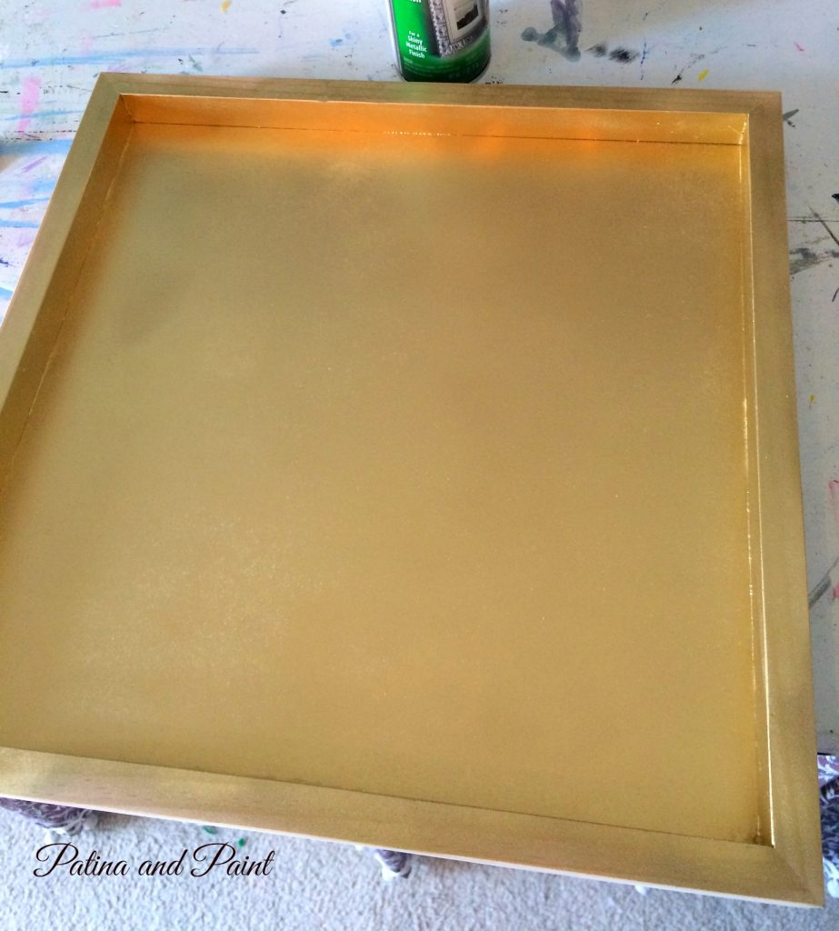 black and gold tray 6
