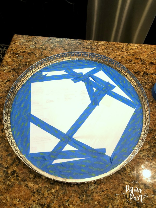 taped tray