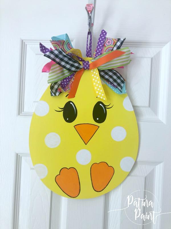 chick easter egg door hanger
