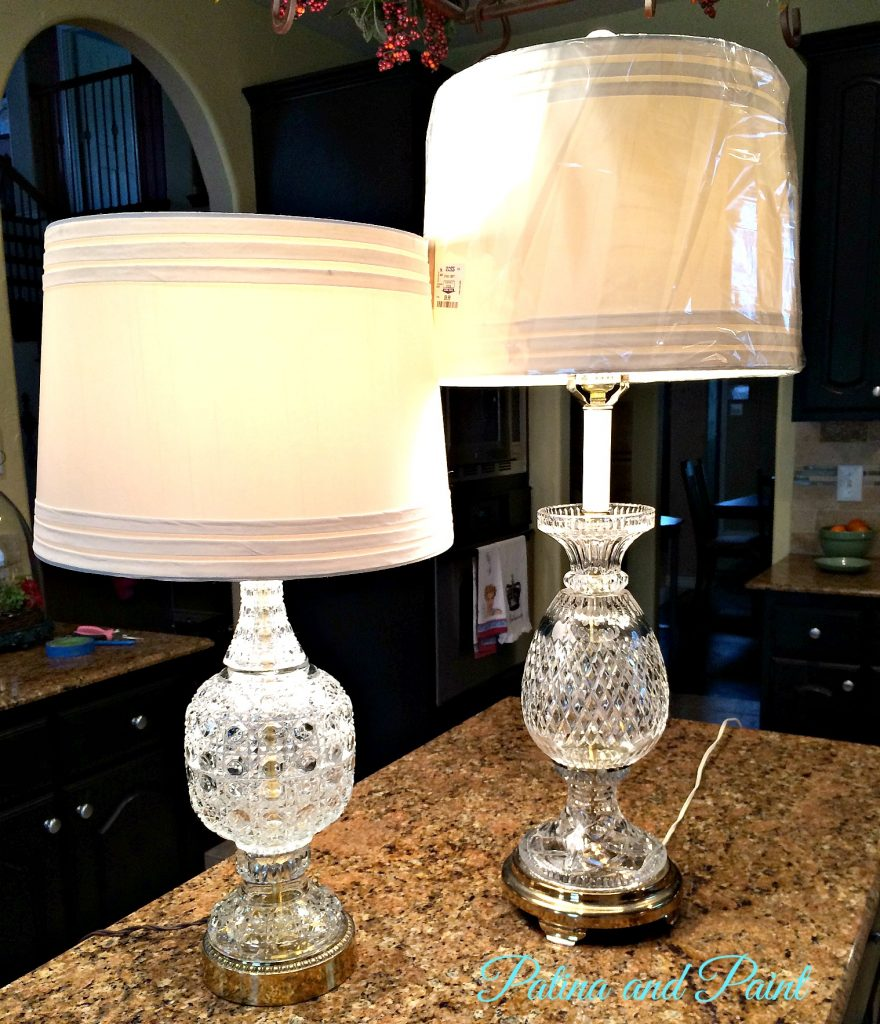 finished glass lamps