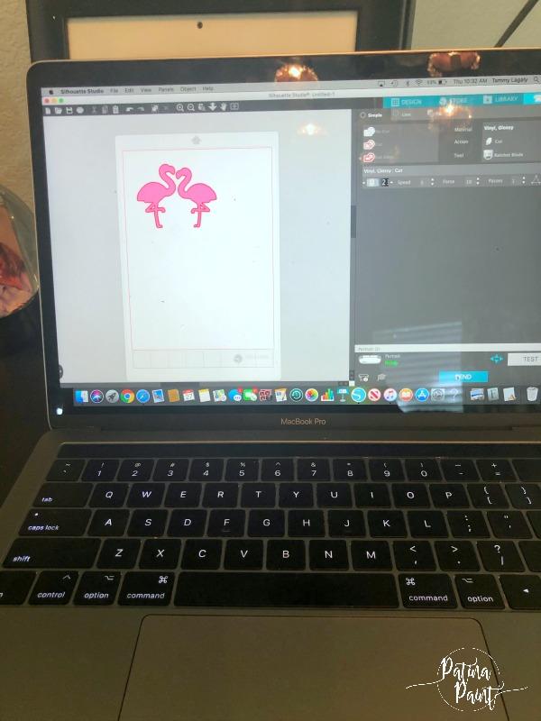 flamingos on a computer