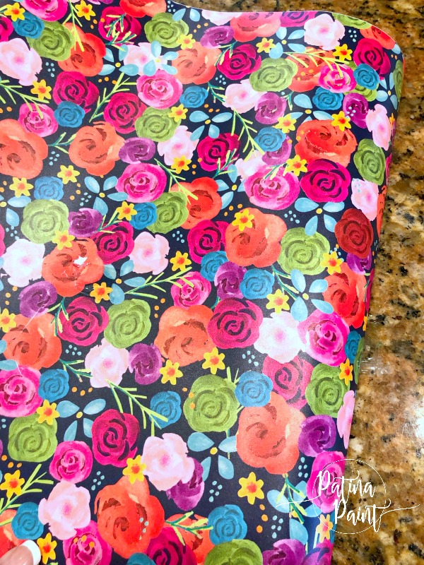 flower patterned vinyl