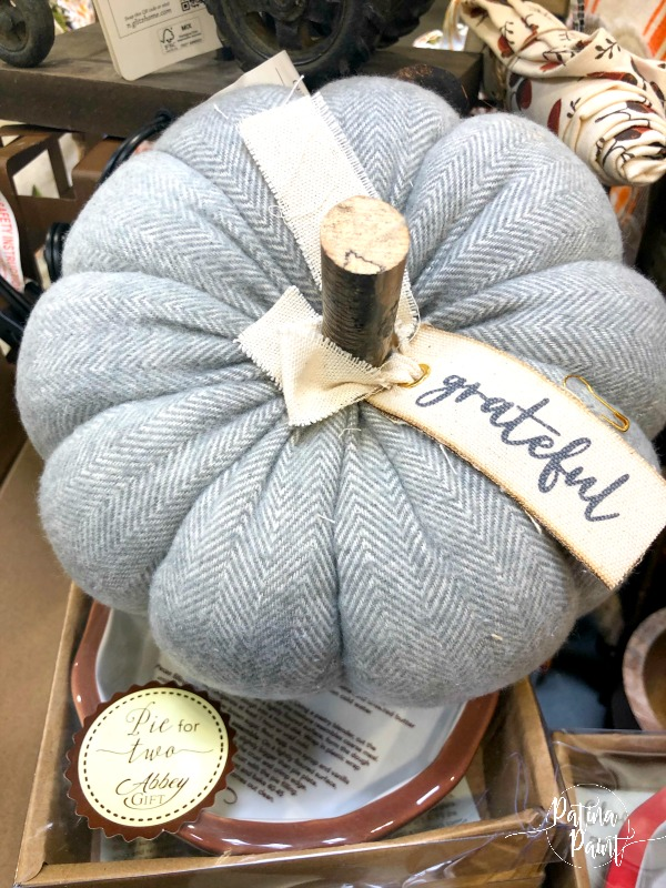 grey herringbone pumpkin