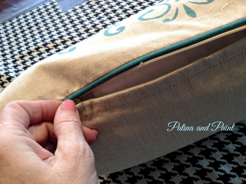 pillow zipper