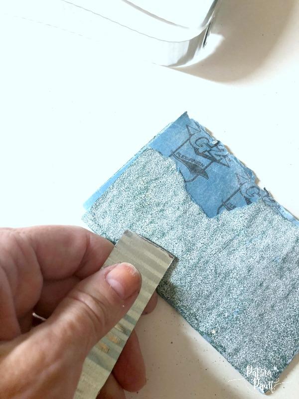 sanding tin strips
